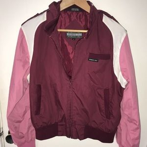 members only magenta bomber jacket